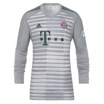 1819 FC Bayern Munich Home Long Sleeve Grey Goalkeeper Jersey