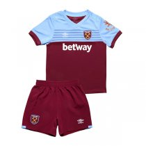 19-20 West Ham United Home Red Soccer Jersey Kids Kit