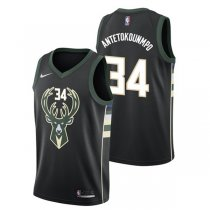 Milwaukee Bucks Giannis Antetokounmpo #34 Black Statement Swingman Jersey