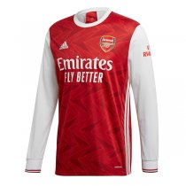 20-21 Arsenal Home Long Sleeve Soccer Jersey