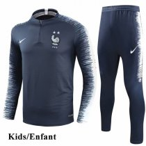 Kids 2018 Two Star France Navy Sleeve Print Tracksuit