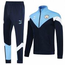19-20 Manchester City Retro Blue Jacket Kit