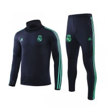19-20 Real Madrid Cyan High Neck Training Suit