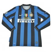 2009-2010 Inter Milan Home Long Sleeve UCL Final Retro Shirt