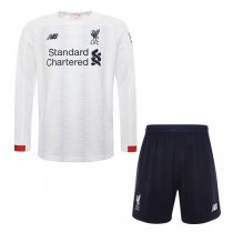 19-20 Liverpool Away long Sleeve Soccer Jersey Men Kit(Shirt+Short)