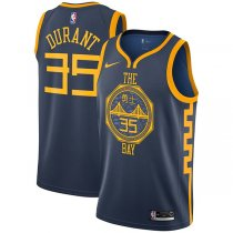 Golden State Warriors Kevin Durant Navy 2018-19 Swingman Jersey