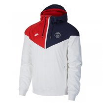 19-20 PSG White Hooide Windbreaker
