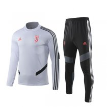 19-20 Juventus White Round Neck Training Suit