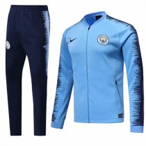 1819 Manchester City Sky Blue Training Jacket Kit