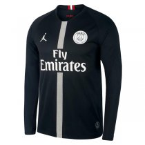 1819 PSG Jordan Long Sleeve Soccer Jersey Black