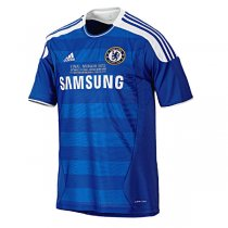 2011-12 Chelsea Home UCL Final with CL Detail Retro Jersey