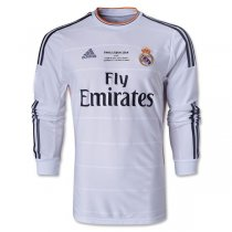 2013-14 Real Madrid UCL Final LS Home Retro Jersey Shirt