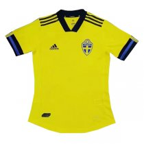2020 Euro Cup Sweden Home Authentic Soccer Jersey Shirt(Player Version)