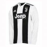 1819 Juventus Home Long Sleeve Soccer Jersey