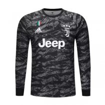 19-20 Juventus Black Goalkeeper Long Sleeve Jersey