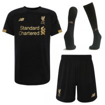 19-20 Liverpool Black Goalkeeper Jersey Full Kit(Shirt+Short+Sock)