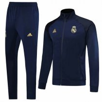 19-20 Real Madrid All Navy Blue Jacket Kit
