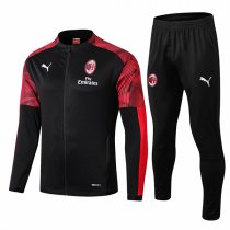 19-20 AC Milan Black Zebra Sleeve Jacket Kit