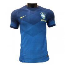 2020 Brazil Away Authentic Blue Soccer Jersey (Player Version)