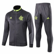 19-20 Flamengo Full Dark Gray High Neck Jacket Kit