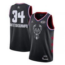 Milwaukee Bucks Antetokounmpo #34 Black 2019 NBA All-Star
