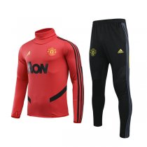19-20 Manchester United Red High Neck Training Suit
