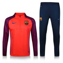1617 Barcelona Survetement Football Orange Sleeve Red