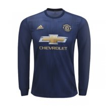 18-19 Manchester United Third Long Sleeve Soccer Jersey Shirt