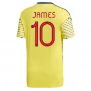 2019 Colombia Home Soccer Jersey Shirt JAMES #10