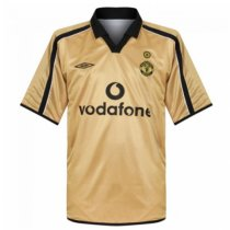 2001-2002 Manchester United Centenary Away Gold Retro Jersey