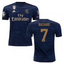 19-20 Real Madrid Away Champion League Patch Jersey Print HAZARD #7