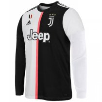 19-20 Juventus Home Long Sleeve Soccer Jersey Shirt
