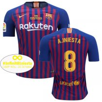 1819 FC Barcelona A. INIESTA 8 Last Match In La Liga Jersey (Play Version)
