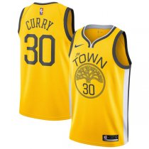 Golden State Warriors Stephen Curry Yellow 2018-2019 Earned Edition Swingman Jersey