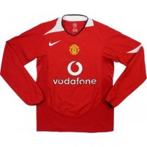 2004-06 Manchester United Home Long Sleeve Retro Shirt