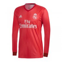 Real Madrid 2018-19 Long Sleeve Third Soccer Jersey