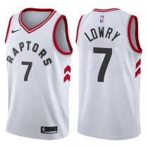 Toronto Raptors Kyle Lowry 2017-18 Association White Jersey