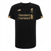 19-20 Liverpool Home Black Goalkeeper Soccer Jersey Shirt