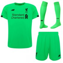19-20 Liverpool Away Green Goalkeeper Men Full Kit(Shirt+Short+Socks)