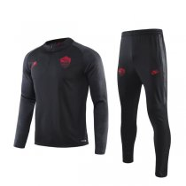19-20 AS Roma Black Training Suit