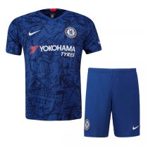 19-20 Chelsea Home Soccer Jersey Men Kit(Short+Shirt)