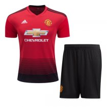 1819 Manchester United Home Soccer Jersey Kit(Shirt+Short)
