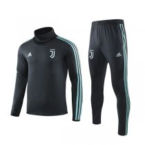 19-20 Juventus Cyan Hing Neck Training Suit