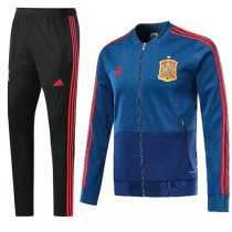 2018 Spain Blue World Cup Training Kit(Jacket+Trouser)