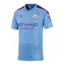 19-20 Manchester City Authentic Home Soccer Jersey (Player Version)