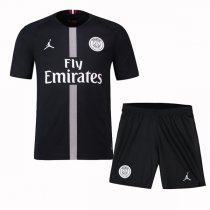 1819 PSG Third Home Black Soccer Jersey Kit