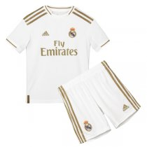 19-20 Real Madrid Home Soccer Jersey Kids Kit