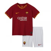 19-20 AS Roma Home Soccer Jersey Kids Kit