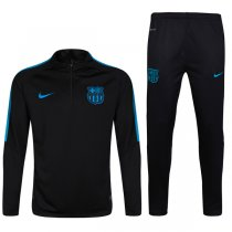 1617 Barcelona Tracksuit Black Sleeve Blue