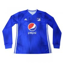 2019 Millonarios FC Home Long Sleeve Soccer Jersey